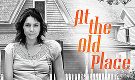 "A promotional poster for ""At the Old Place"" at La Jolla Playhouse."