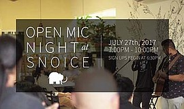 Promotional photo for Open Mic Night. Courtesy of Snoice.