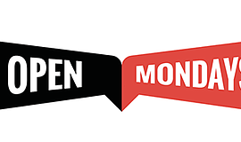 Diversionary Theatre's promotional graphic for Open Mondays.