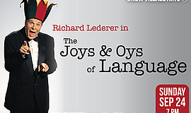 A promotional poster for The Joys & Oys of Language, courtesy of New Village ...