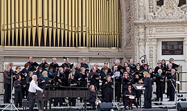 The Pacificaires performing at Balboa Park Organ Pavilion. Courtesy of the Pa...