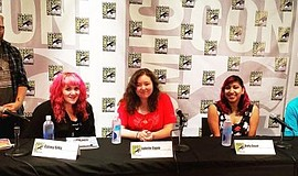 Promotional photo of a panel for the Comic Conference for Educators and Libra...