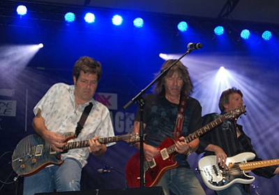 Photo of Pat Travers Band performing. Courtesy of Belly Up.