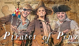 "Photo of actors in San Diego Opera's ""The Pirates Of Penzance."""