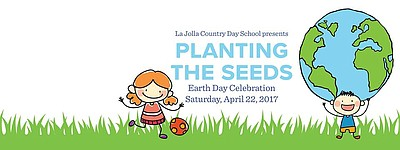 Promotional graphic for the La Jolla Country Day School's Planting the Seeds event.