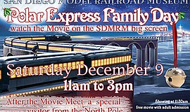 Promotional graphic for Polar Express Family Day. Courtesy of the San Diego M...