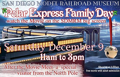 Promotional graphic for Polar Express Family Day. Courtes...