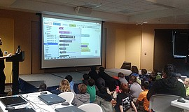 Participants learn at a Fleet Science Center camp.