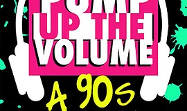 "A promotional poster for SDMT's ""Pump Up the Volume: A 90s Palooza."""