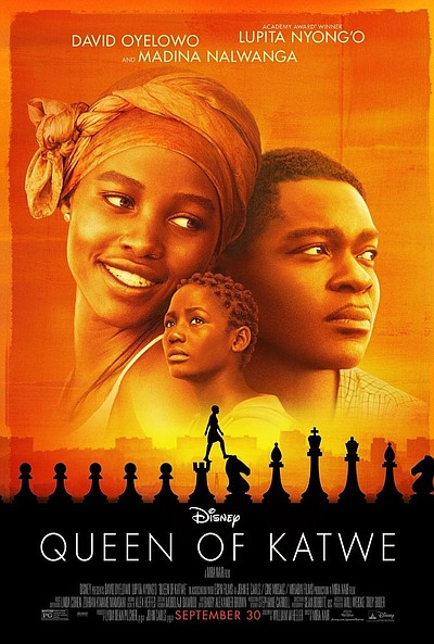 "Promotional movie poster of, ""Queen of Katwe."""