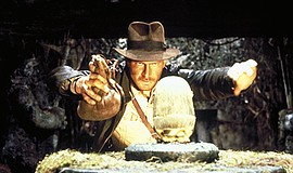 """A photo from the 1981 film """"Raiders of the Lost Ark."""""""