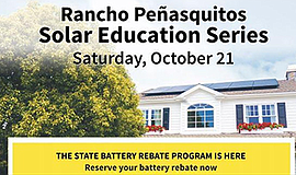 Promotional graphic for the Rancho Peñasquitos Solar Experience. Courtesy of ...