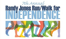 Promotional graphic for the 7th Annual Randy Jones Run/Walk For Independence.