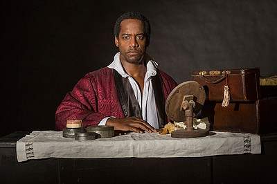 "A photo of Albert Jones as Ira Aldridge in ""Red Velvet."" Photo by Jim Cox."