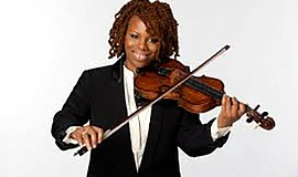 A photo of violinist Regina Carter, courtesy of the artist's website.