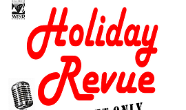 "Promotional graphic for the ""Holiday Revue"" concert. Courtesy of the Hillcres..."