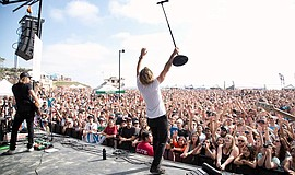 Jon Foreman of Switchfoot performs at Bro-Am.