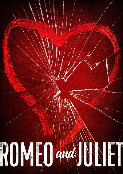 "A promotional poster for ""Romeo and Juliet,"" courtesy of ..."