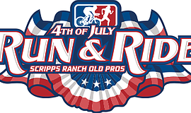 Promotional logo for the Scripps Ranch 4th of July Run & Ride.