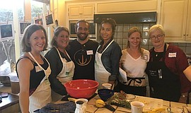 Photo of a previous Salsa & Salsa Cooking Class.