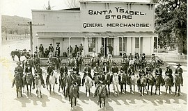 Photo of cowboys in front of the Santa Ysabel General Store.