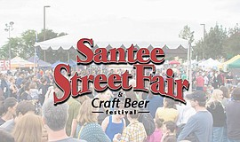 Promotional flier for the Santee Street Fair.