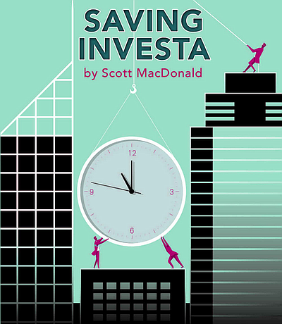 "Cropped version of the ""Saving Investa"" book cover."