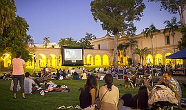 A photo from Screen on the Green in Balboa Park. Courtesy of San Diego Museum...