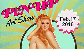 Promo graphic for Pin-Up Art Show