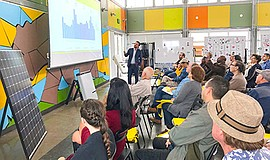 Photo of a past solar experience seminar. Courtesy of the San Diego Solar Exp...