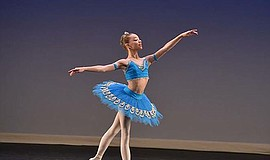 A photo of a ballet student from San Diego Academy of Ballet, courtesy of SDAB.