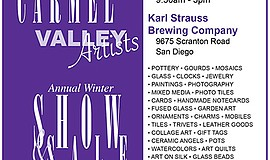 Promotional graphic for the Carmel Valley Artists Annual Winter Show and Sale...