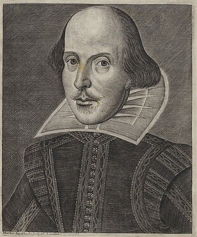 A photo illustration of William Shakespeare.