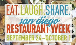 Promotional flier for San Diego Restaurant Week.