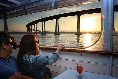 Promotional photo for the Sights And Sips Cocktail Cruise.