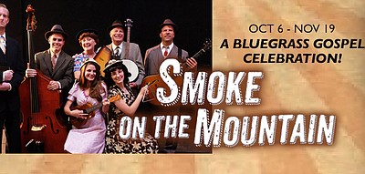 "A promotional poster for ""Smoke on the Mountain,"" courtes..."