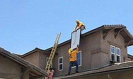 Photo of solar panel installation. Courtesy of Center for Sustainable Energy.