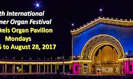 Promotional graphic for the 30th Annual Spreckels International Summer Organ ...