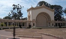 A photo of Balboa Park's Spreckels Organ Pavilion.