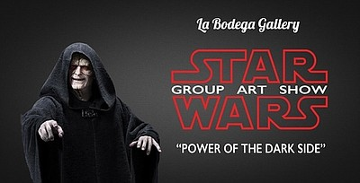 A poster for Power of the Dark side art show, courtesy of La Bodega Gallery.