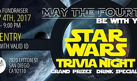 Promotional graphic for Star Wars Trivia Night.