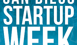 Promotional graphic for San Diego Startup Week.