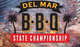 Promotional graphic for the Del Mar BBQ State Championship.