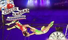 A promotional poster for Circus Vargas' Steam Cirque.