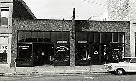 Old photo of the Sterling Hardware Building. Courtesy of Sparks Gallery.