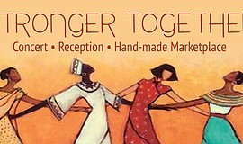 "Promotional graphic for ""Stronger Together."""
