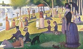 A photo of the painting  A Sunday Afternoon on the Island on La Grande Jatte,...