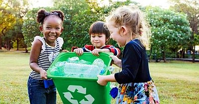 Photo of children recycling for the South Bay Sustainabil...