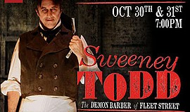 """Promotional graphic for the concert reading of """"Sweeney Todd."""" Courtesy of Cy..."""