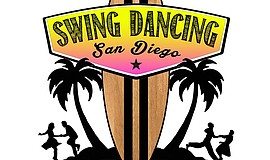 Promotional graphic for Swing Dancing San Diego.